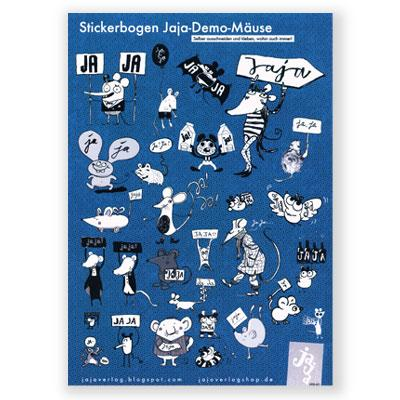 Stickerbogen: Jaja-Demo-Mäuse