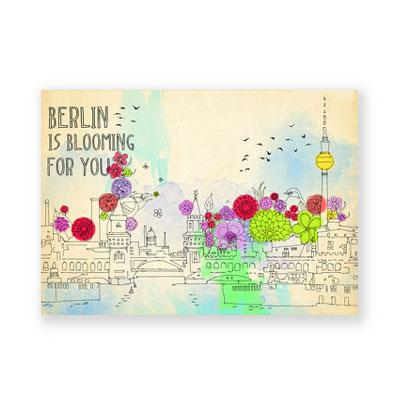 Postkarte: Berlin is blooming for you