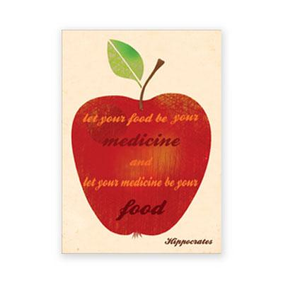 Postkarte: let your food be your medicine