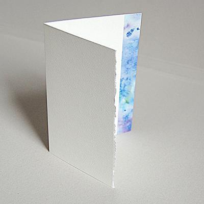 Edle Weihnachtskarten.Edle Weihnachtskarte Mit Risskante Blauer Eisrand