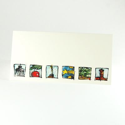 Weihnachtskarten Blanko.Berliner Weihnachtskarten Kettshop