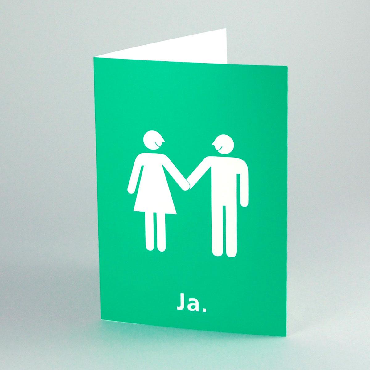 Kettshop Extragrosse Grune Hochzeitskarten Ja