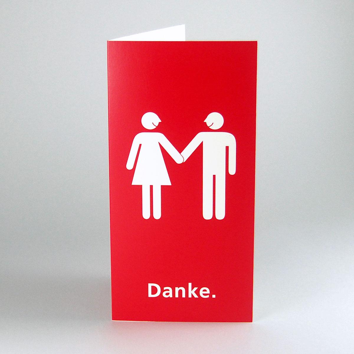 Kettshop Rote Nuchterne Hochzeitskarten Danke