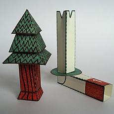 kettshop mechanischer bastelbogen the flying weihnachtsbaum. Black Bedroom Furniture Sets. Home Design Ideas