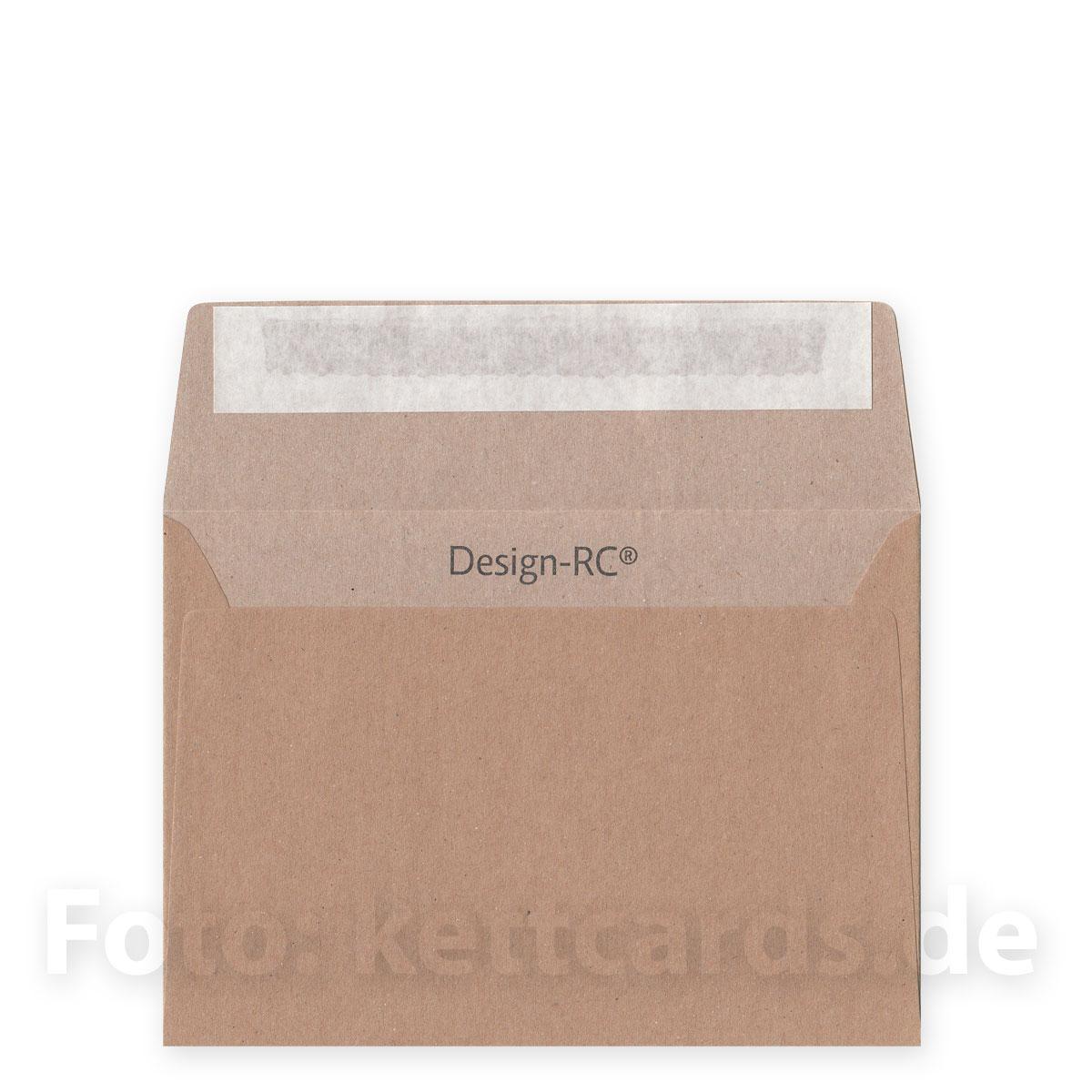Braune Designer Recycling Hüllen Din C6 Innenseite Heller Kettshop