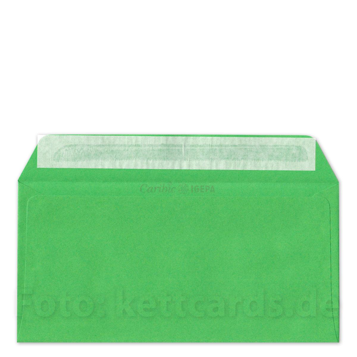 Grüne Haftklebende Umschläge C6 Lang 11 X 22 Cm Kettshop