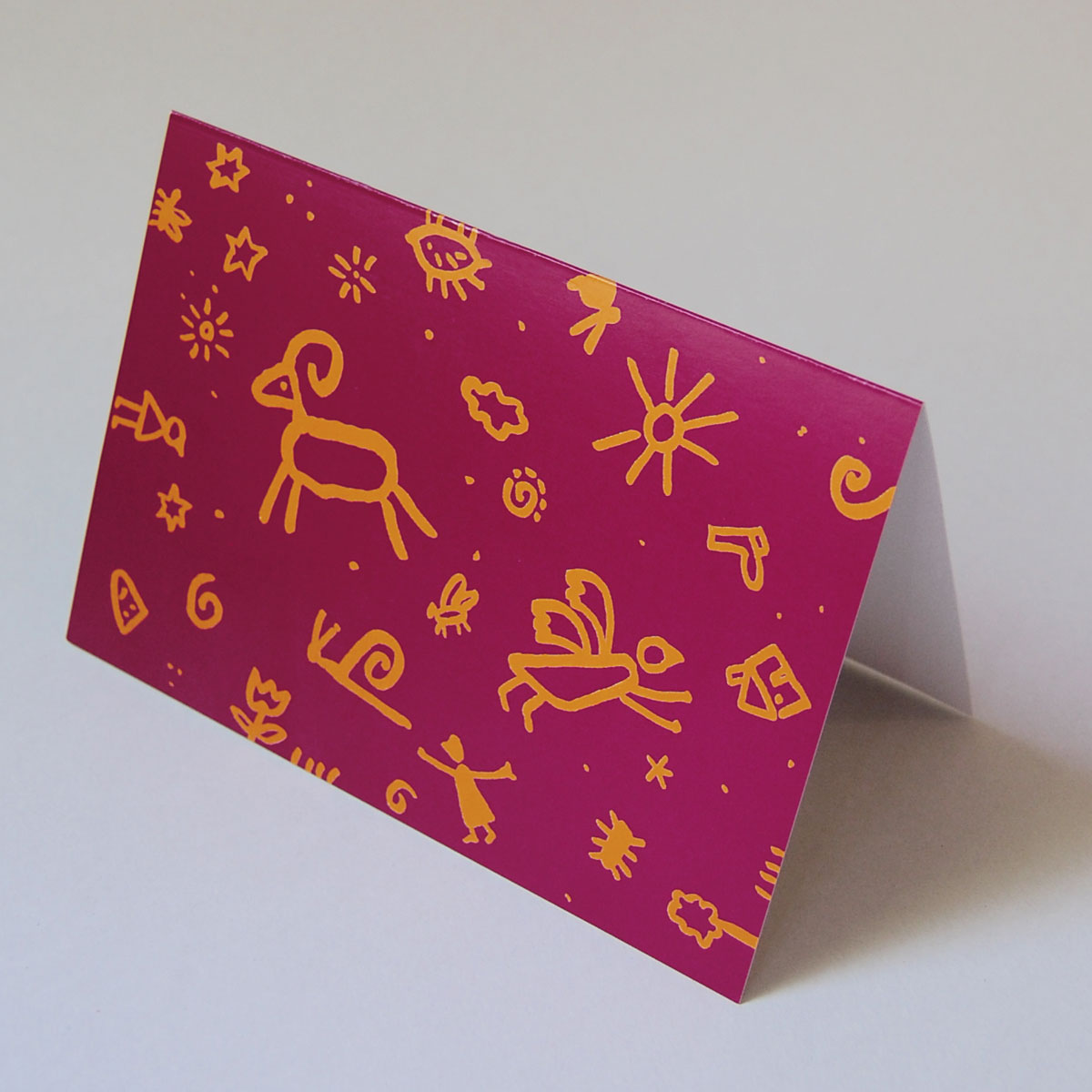 Rote Weihnachtskarten.Weihnachtskarte Weihnachtsviecher