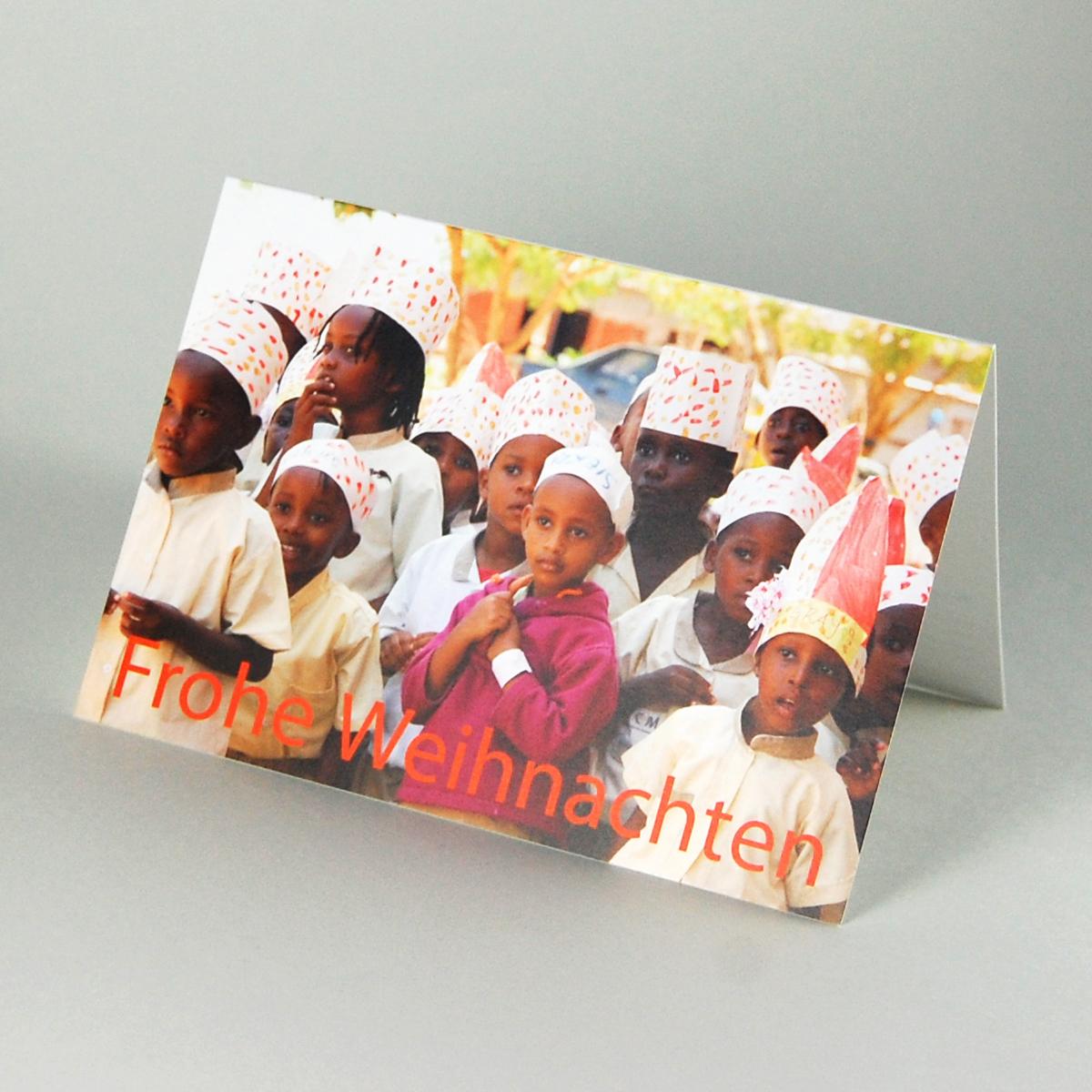 Weihnachtskarten Spende.Weihnachtskarte Mit Spende Warten Auf Den Weihnachtsmann