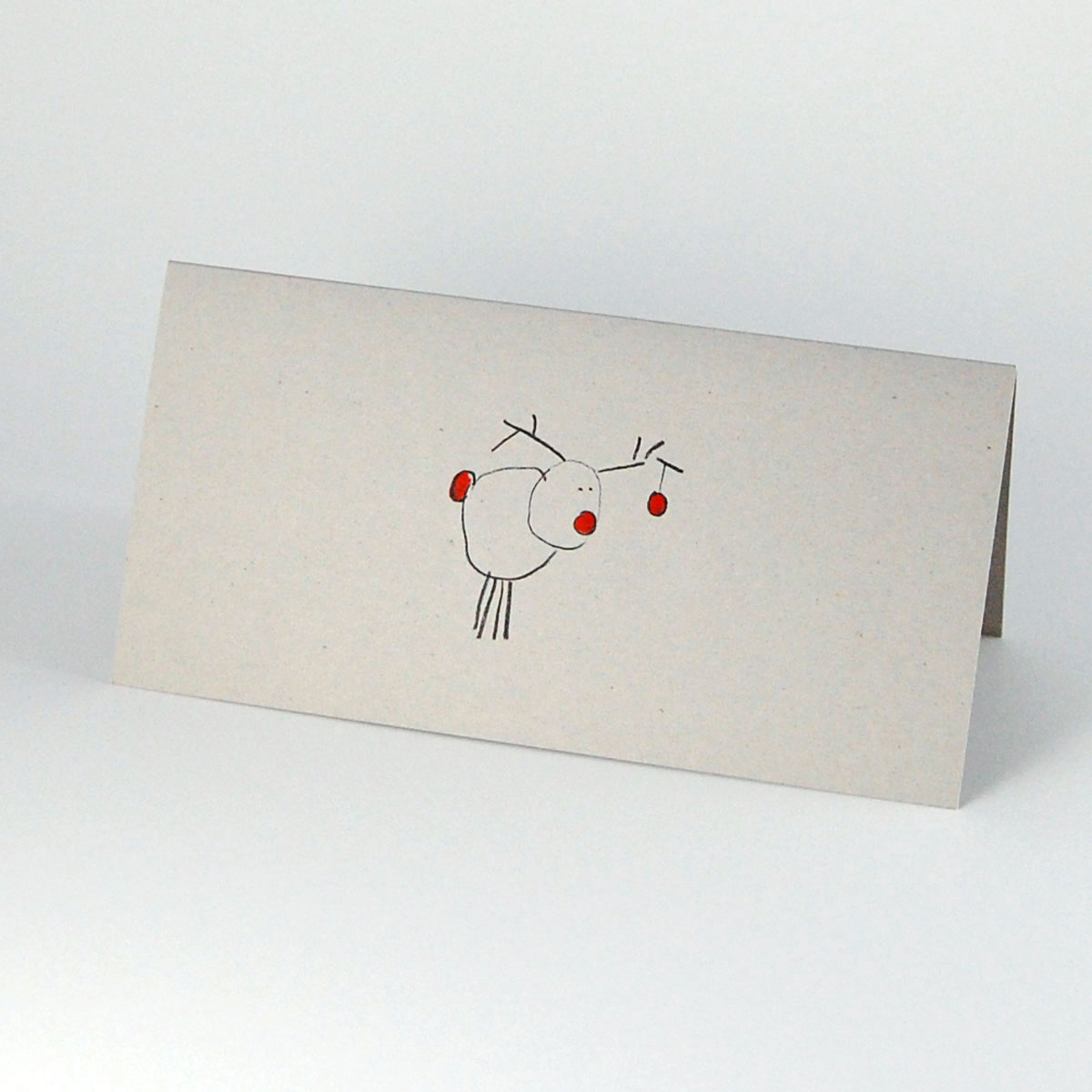 Moderne Weihnachtskarten.Recycling Weihnachtskarte Rudolf