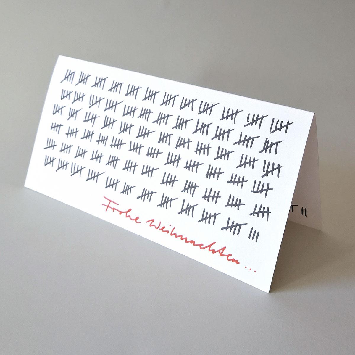 Kettshop - Frohe Weihnachten... witzige Weihnachtskarten mit Strichliste