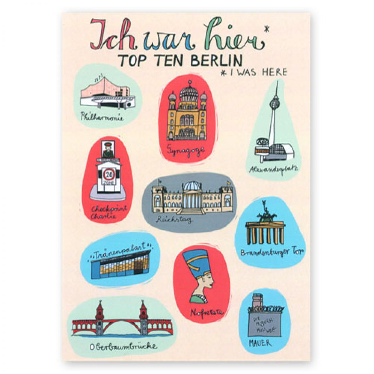 Postkarte: Top Ten Berlin