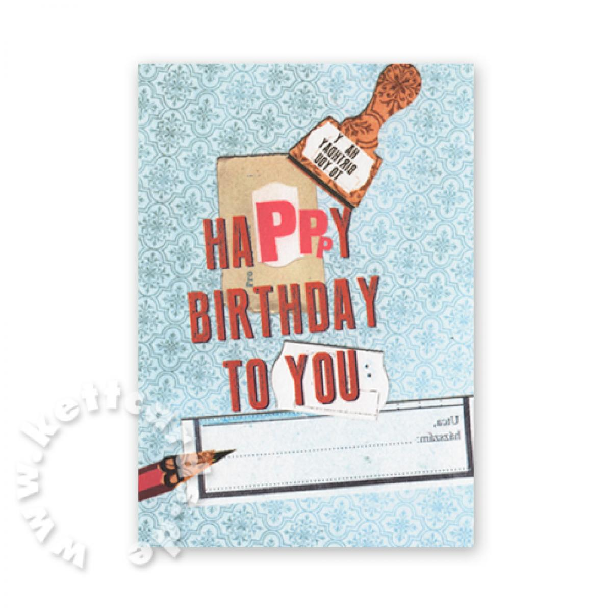 Postkarte: Happy Birthday to you